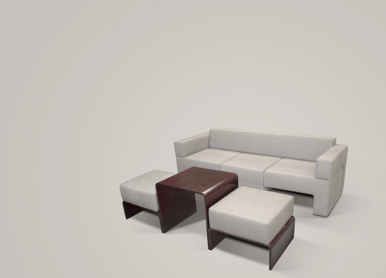 The final build of the Slot Sofa