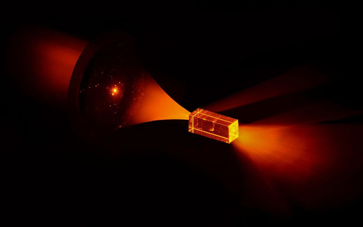 Quantum information has been written onto europium atoms and stored for up to six hours in a prototype quantum hard-drive (Photo: Solid State Spectroscopy Group, ANU)