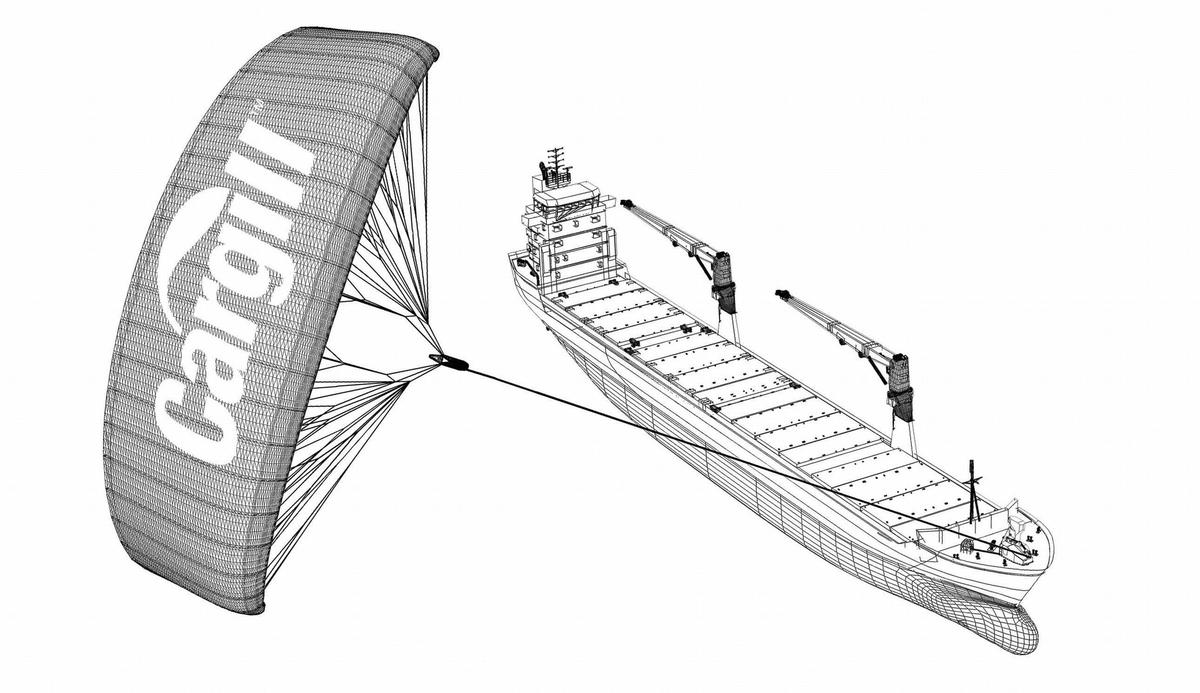 Cargill Ocean Transportation has announced that it will be installing a SkySails wind propulsion system on one of its cargo ships, the largest ever to receive such technology (Image: Cargill)