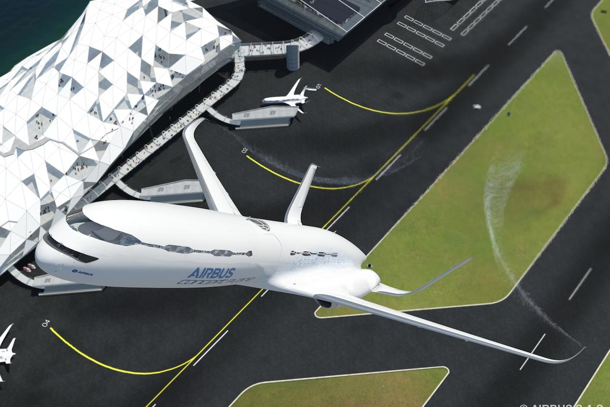 Airbus envisages future passenger aircraft taking off with the assistance of a catapult-like device