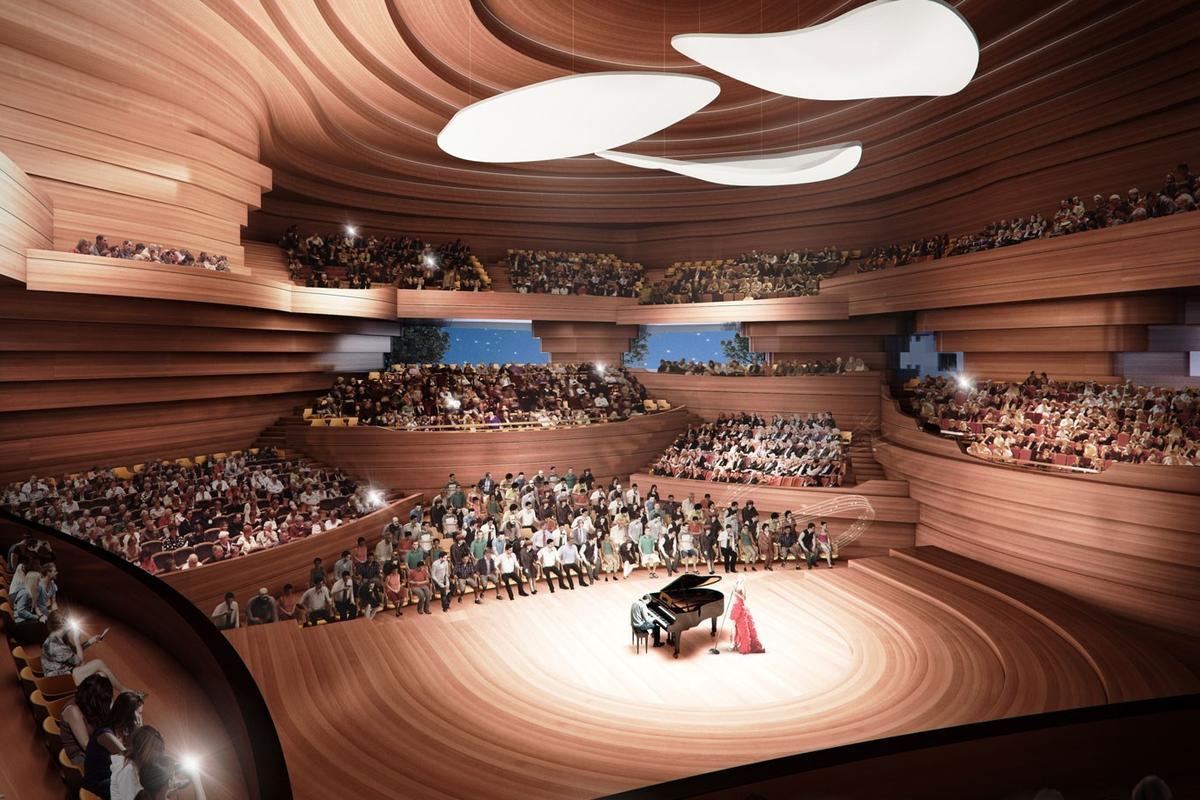 kadawittfeldarchitektur's design for the concert hall (Image: Beethoven Festspielhaus)