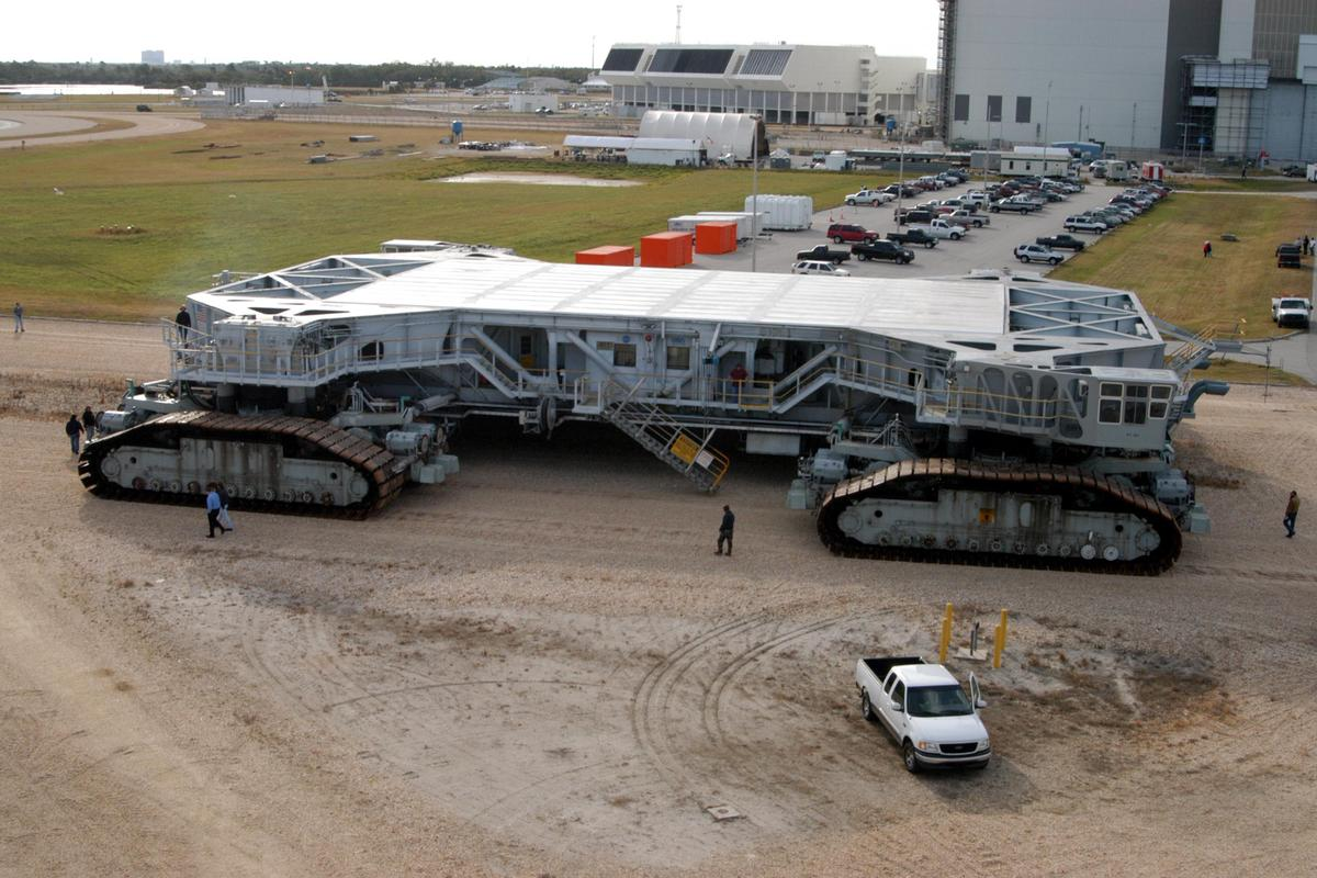 NASA's massive crawler - at the time it entered service, it was the largest land vehicle on Earth (Image: NASA)