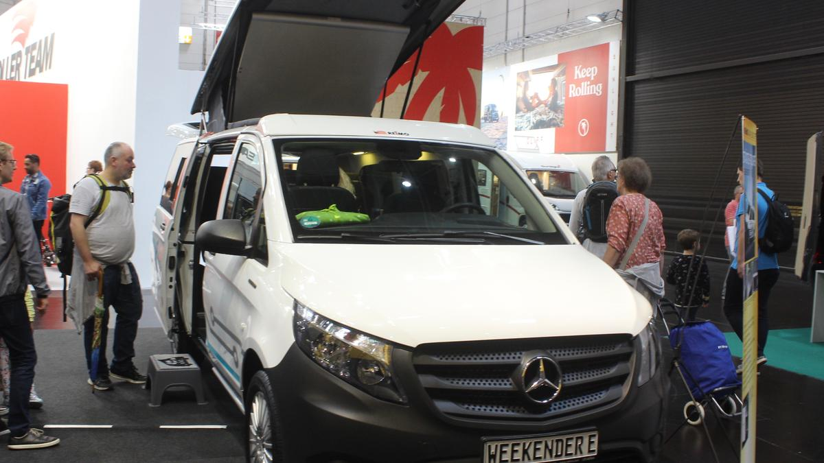 Electric Mercedes camper van connects city and camp