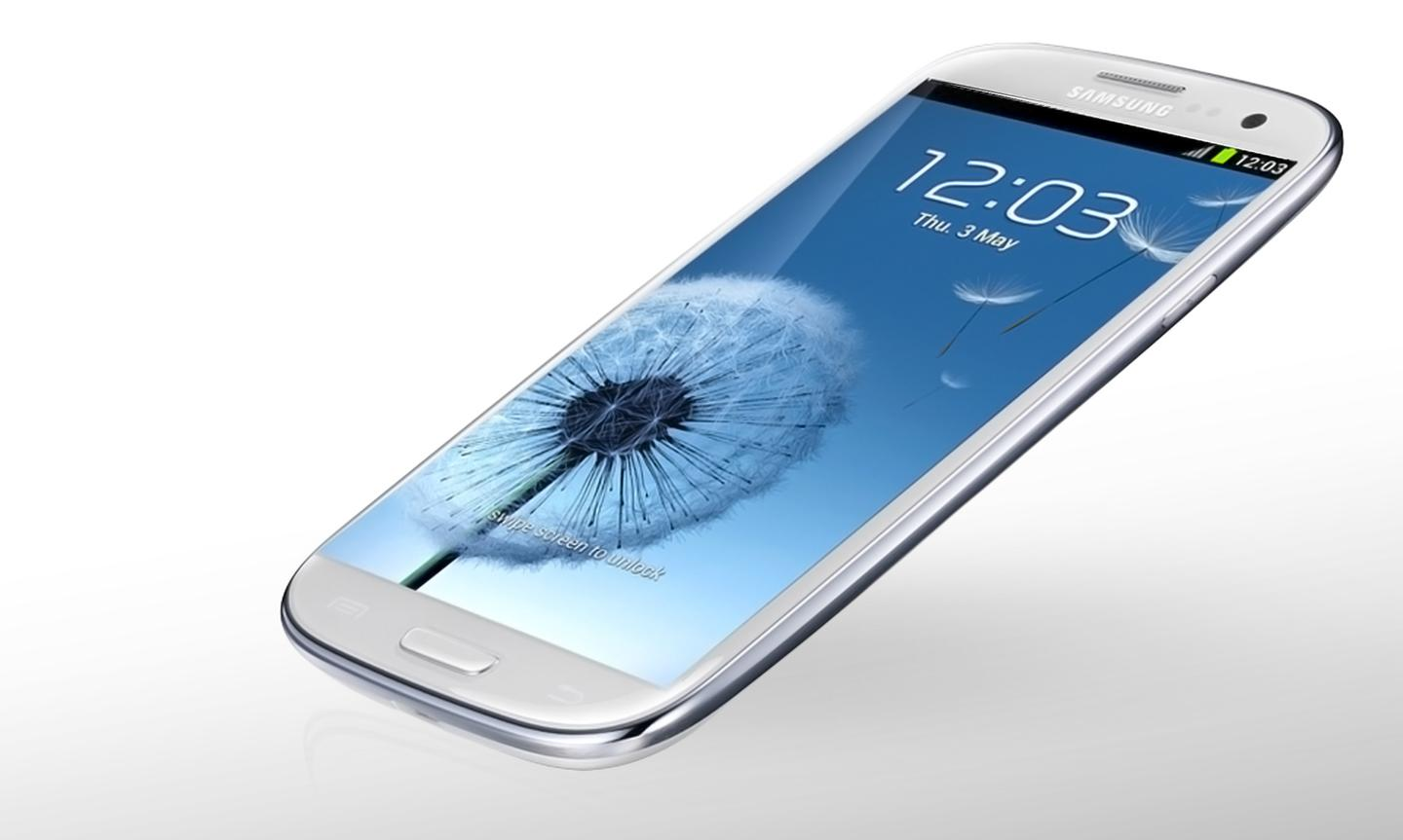 The Galaxy S4 is also rumored to have a larger display (altered Galaxy S3 pictured)
