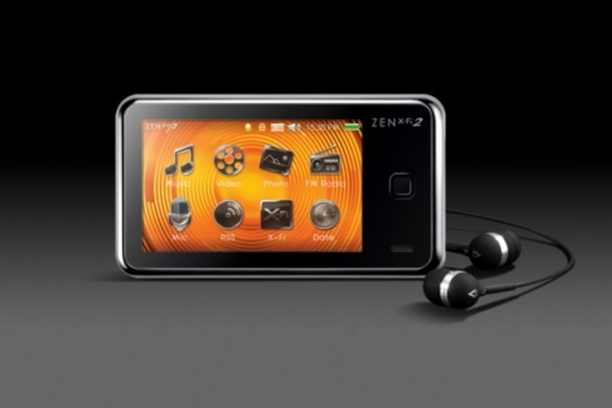 The ZEN X-Fi2 with touch screen and TV connectivity