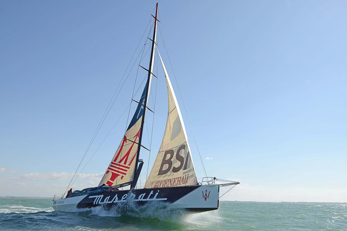 The Maserati is attempting to set a new record for a trans-Atlantic crossing by a mono-hull yacht