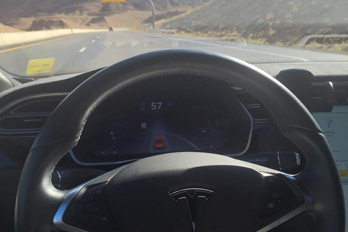 A team driving a Tesla Model S P85D with Autopilot enabled have set a record for a transcontinental trip from LA to New York