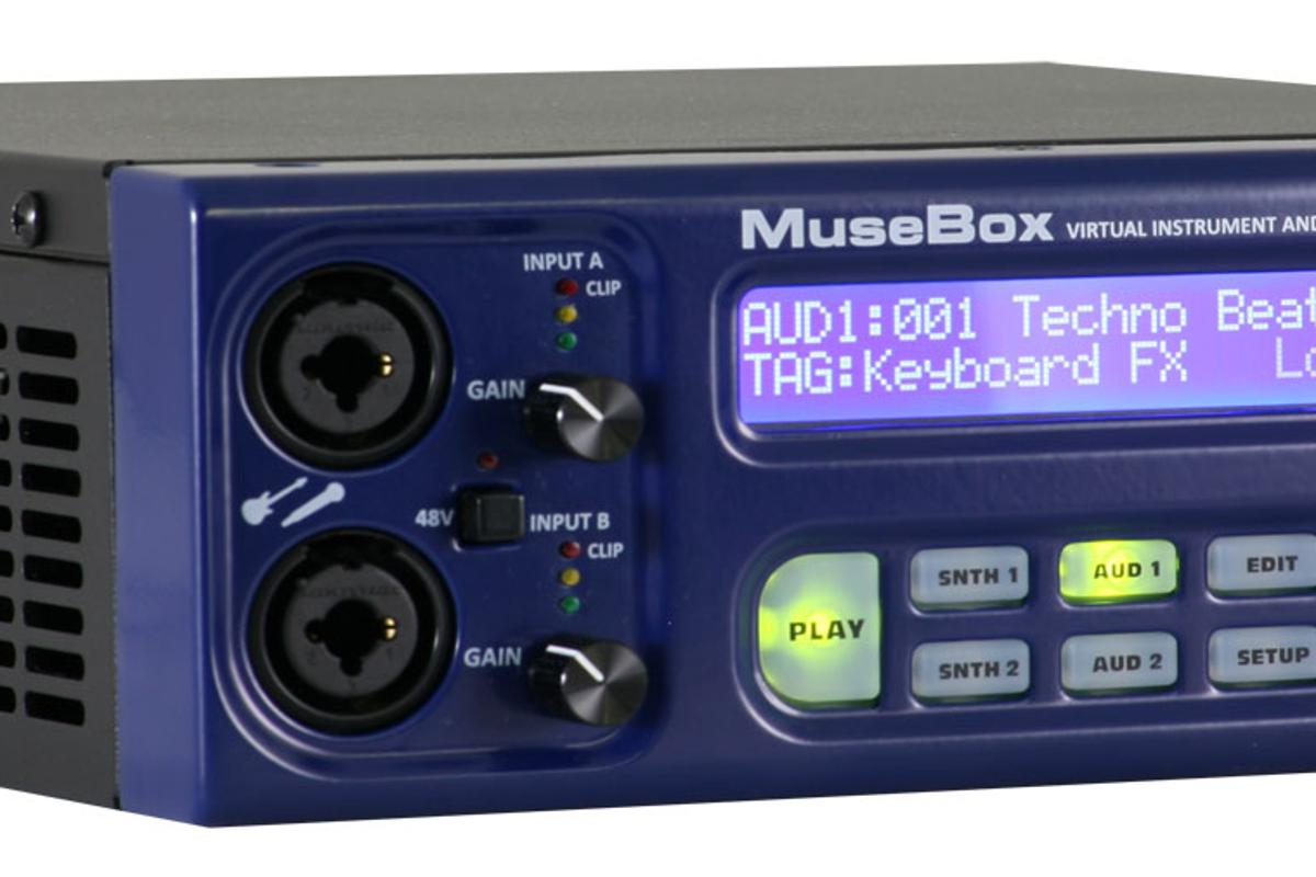 MuseBox benefits from two pro-grade guitar/mic inputs at the front of the unit with phantom power