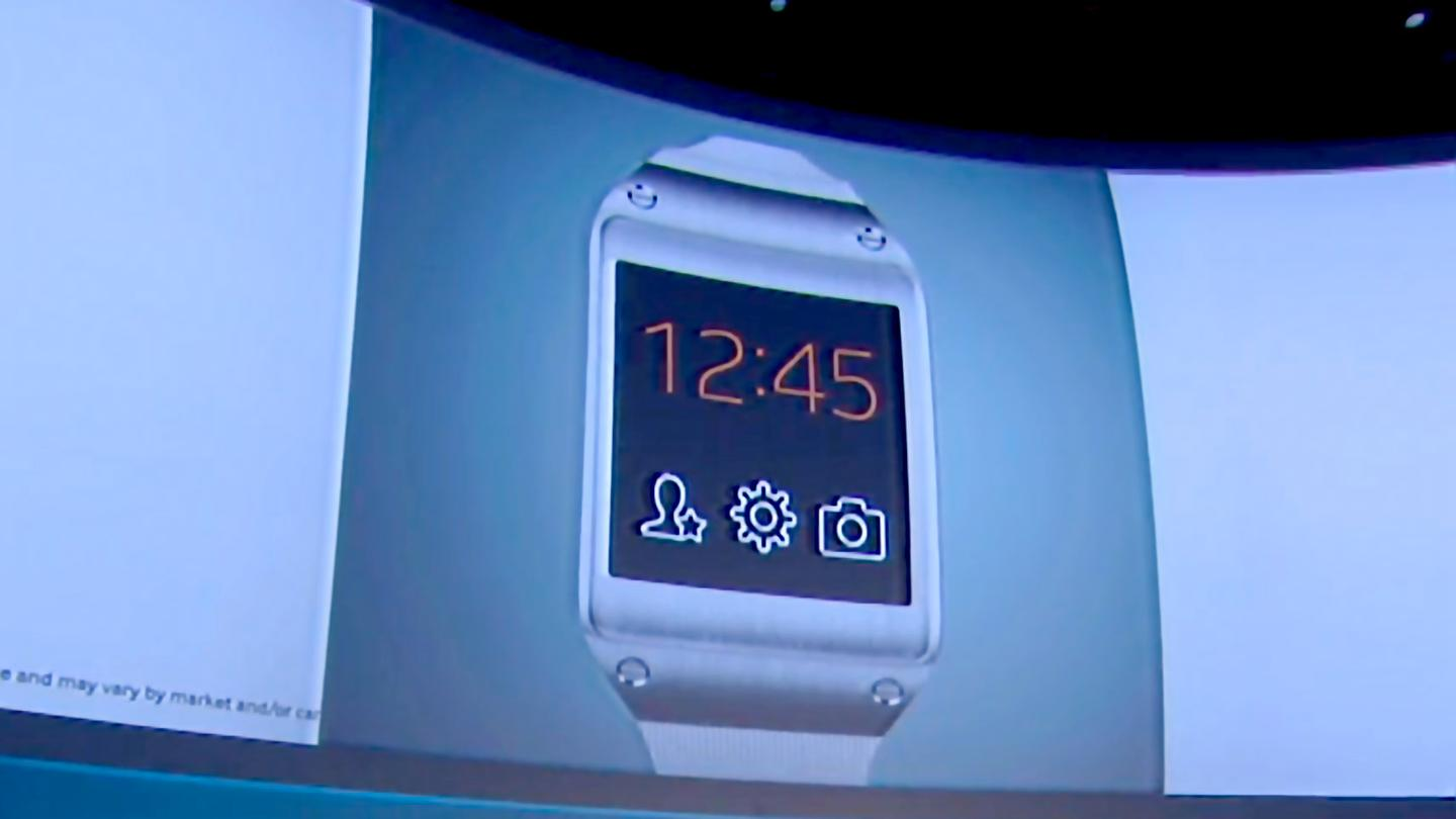 Samsung talked about the Galaxy Gear at the same Unpacked 2 event where it unveiled the Galaxy Note 3