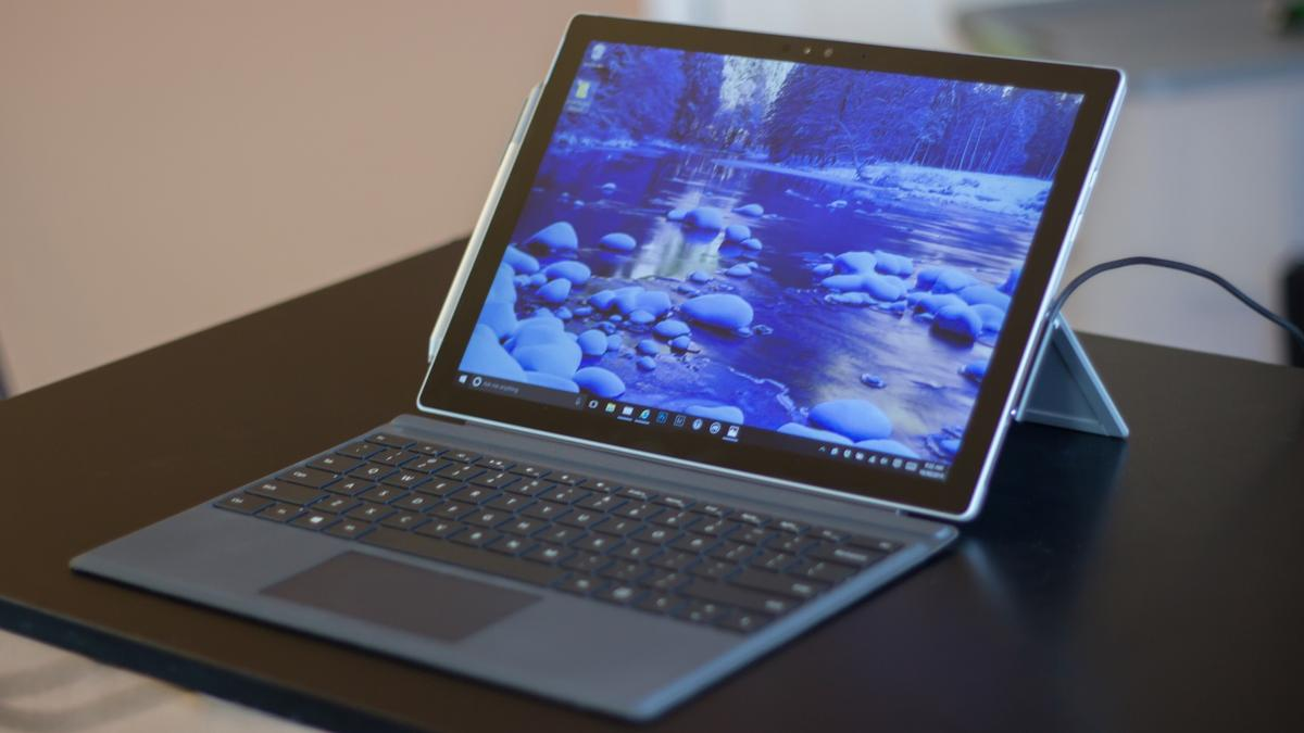 The Surface Pro 4 has a 12.3-inch, 267 PPI (2,736 x 1,824) display