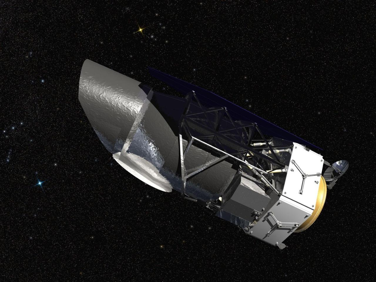 Artist's impression of the WFIRST orbital telescope