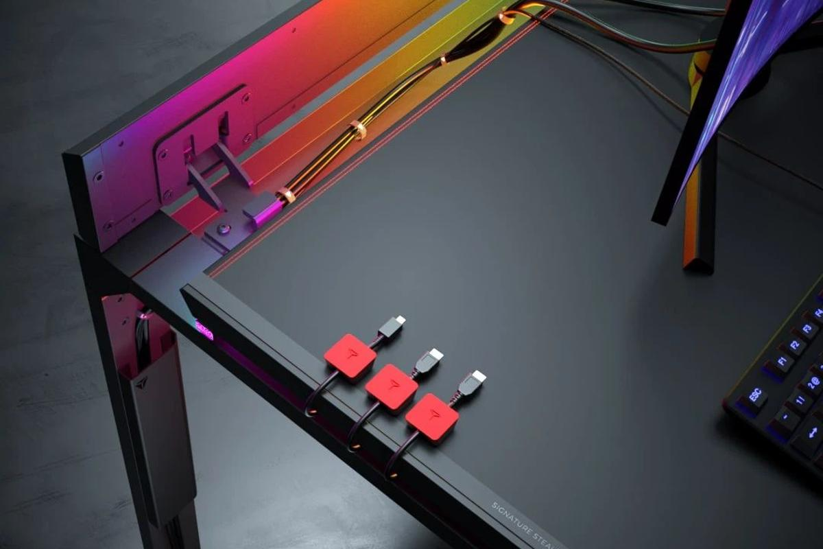 Secretlab takes a magnetic approach to cable management with the Magnus Metal Desk