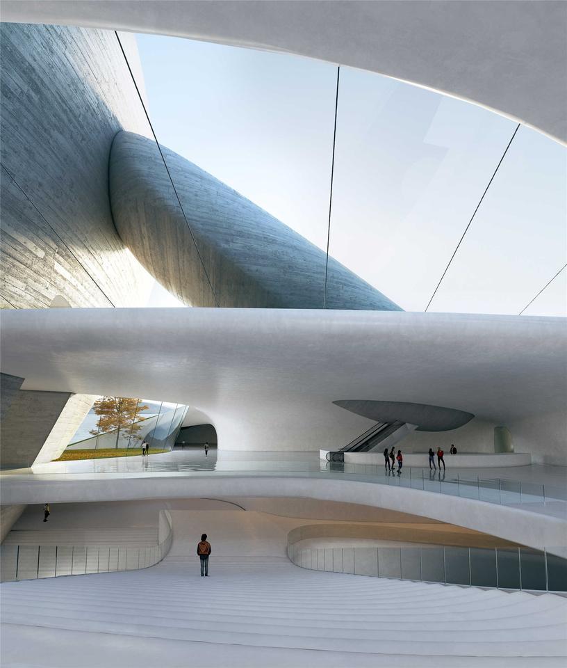 Парк культуры Шэньчжэньского залива будет включать в себя приемную, выставочные залы, общественное образовательное пространство и многое другое.