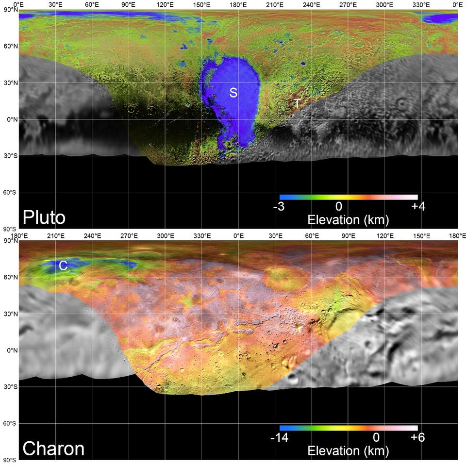 Global mosaic maps of Pluto and Charon