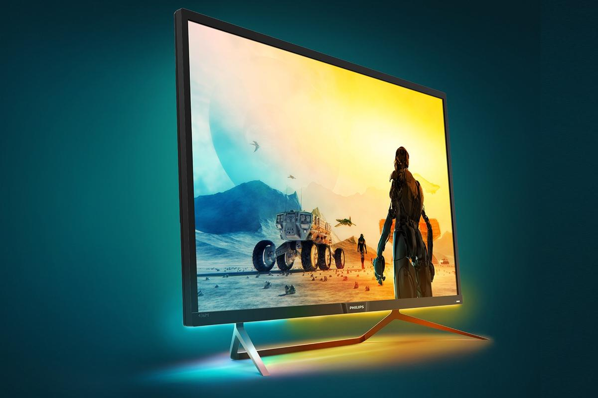 The Philips Momentum436M6VBPAB 4K HDR Quantum Dot monitor is the first in the world to achieveHDR 1000 level of picture performance