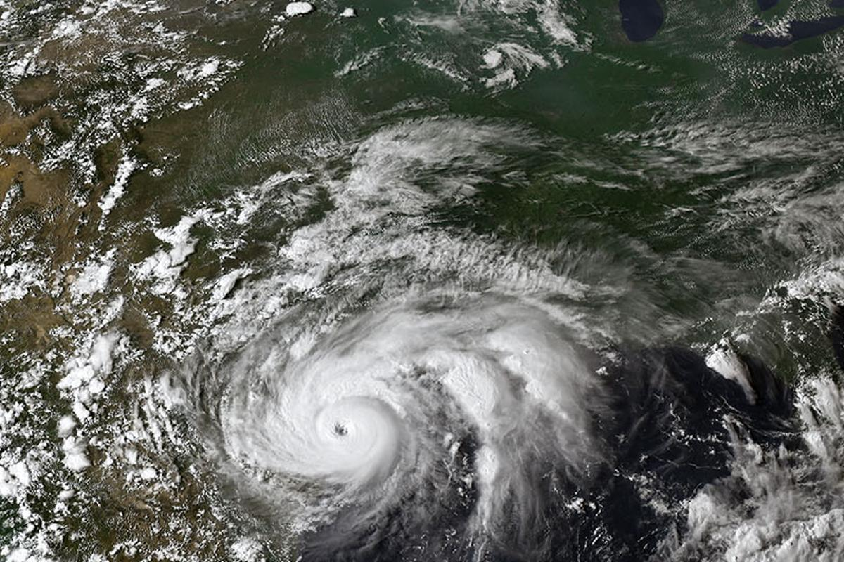 Hurricane Harvey over North America in 2017, as seen by Geostationary Operational Environmental Satellite 16