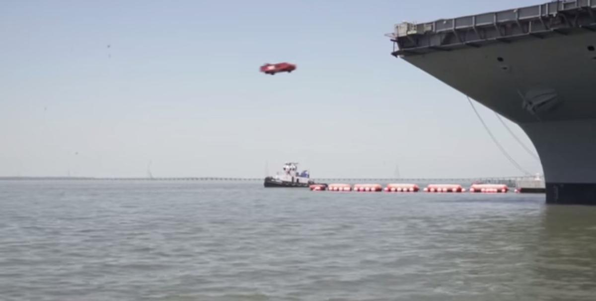 The recent test launched a dead-weight sled from the aircraft carrier Gerald R. Ford (CVN 78)