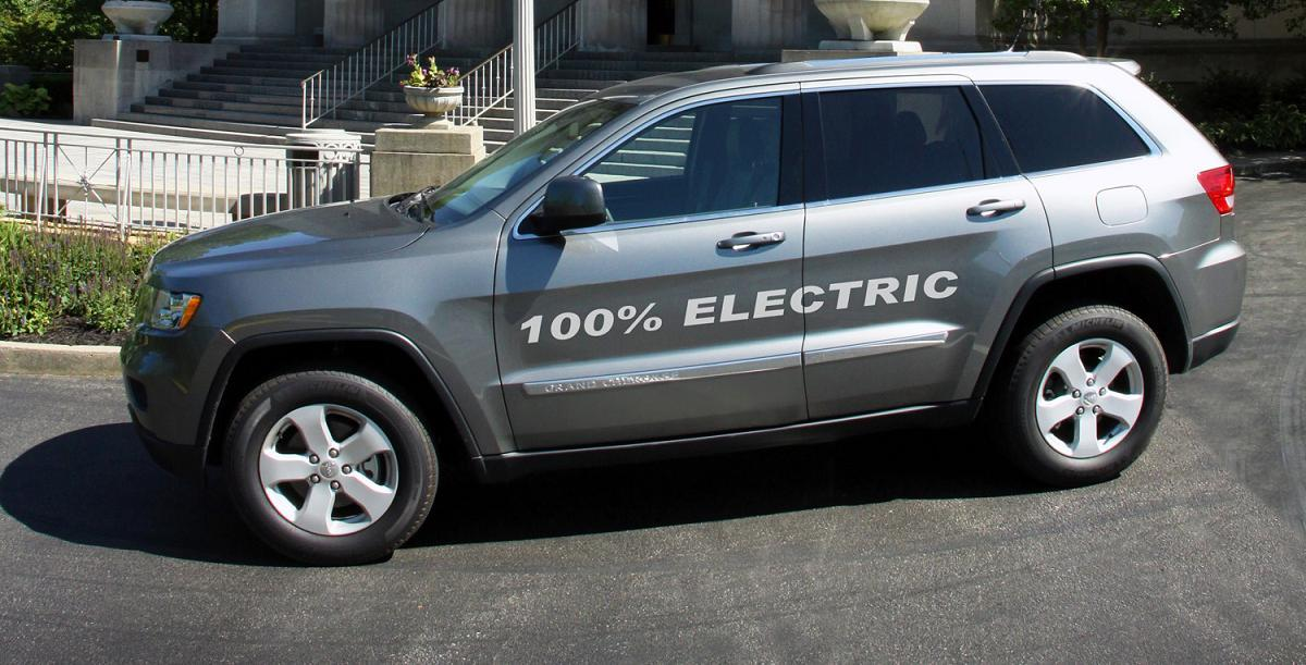 AMP will unveil an all-electric version of the Jeep Grand Cherokee in Detroit next week (Photo: AMP)