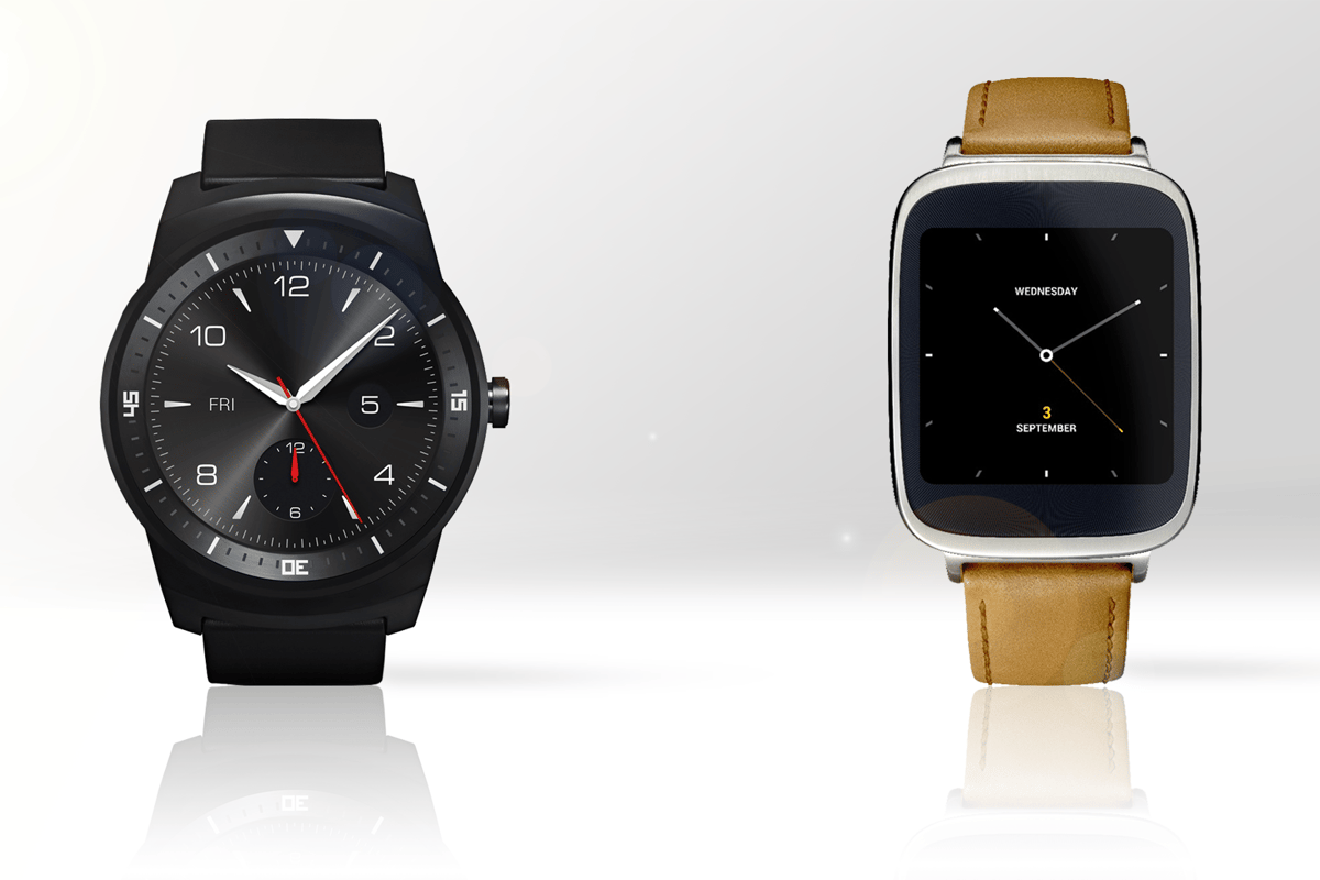 Gizmag compares the features and specs of the LG G Watch R (left) and Asus ZenWatch