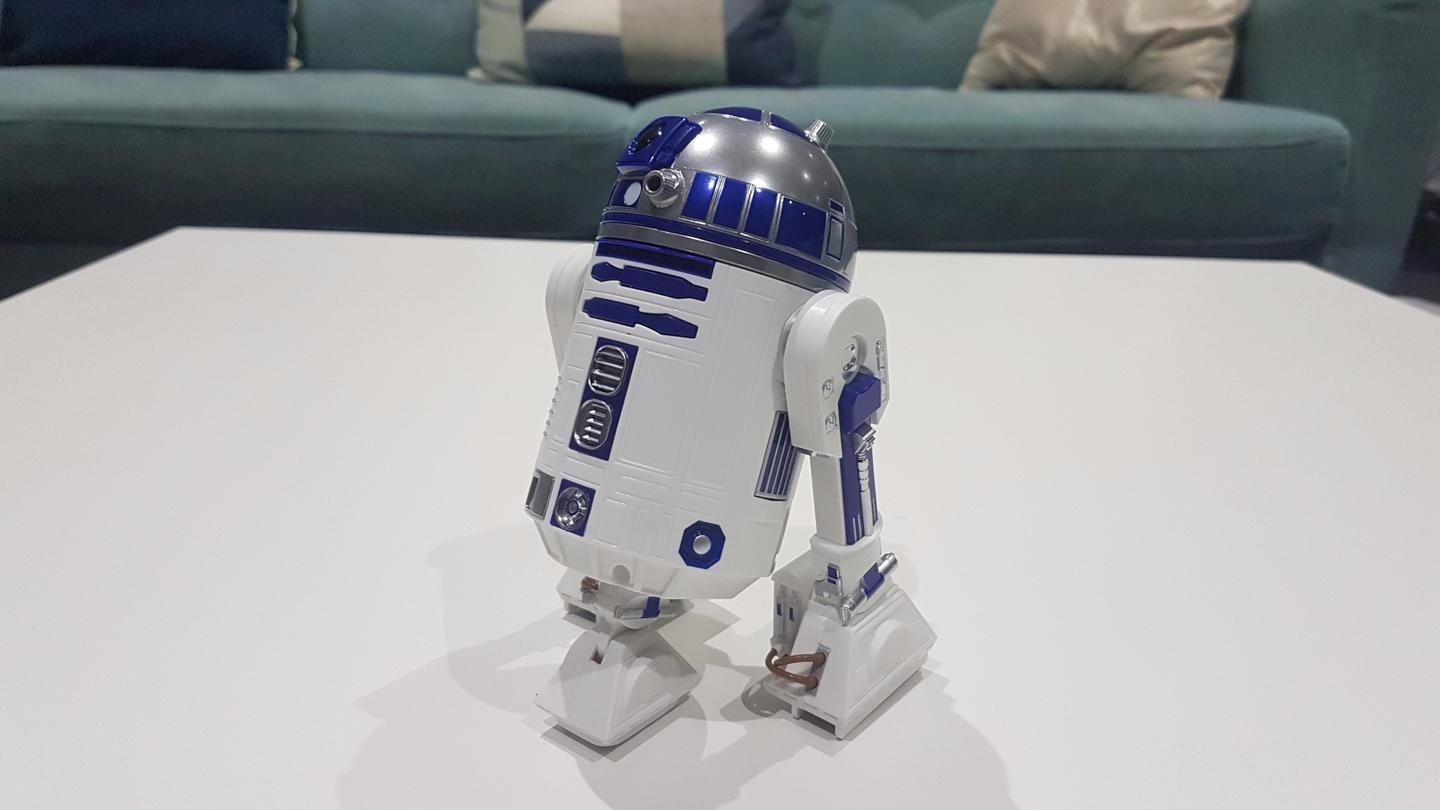 R2-D2 can extend his third leg to move around, just like in the movies
