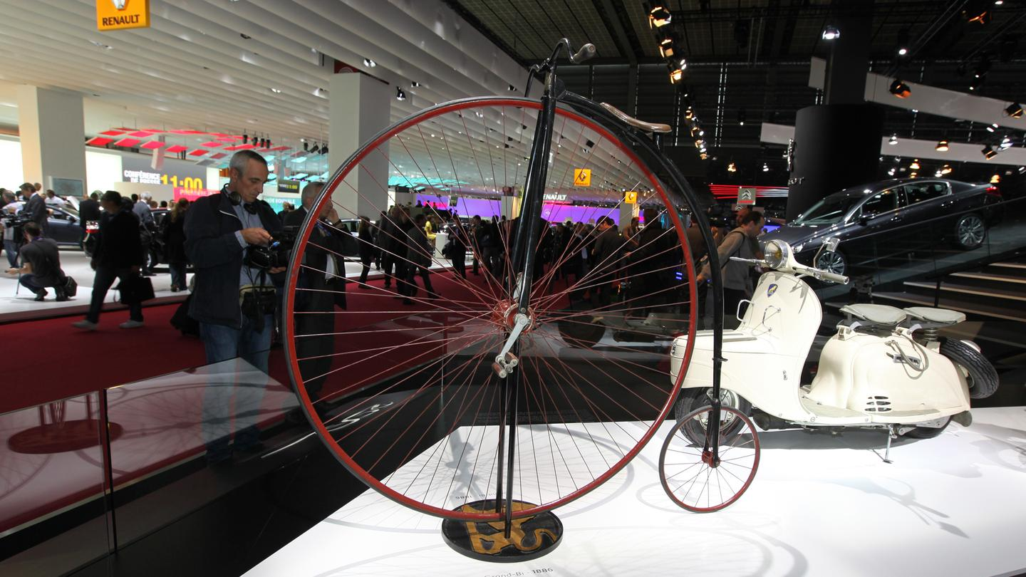 Peugeot's move into the transportation industry began in 1882 with the Grand Bi model, a Penny-Farthing of such fine craftsmanship that it helped build the company's reputation for quality across France