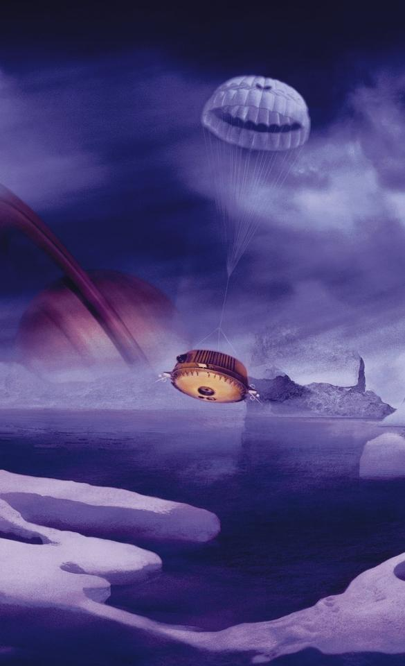 Artist's impression of Huygens landing on Titan (Image: ESA)