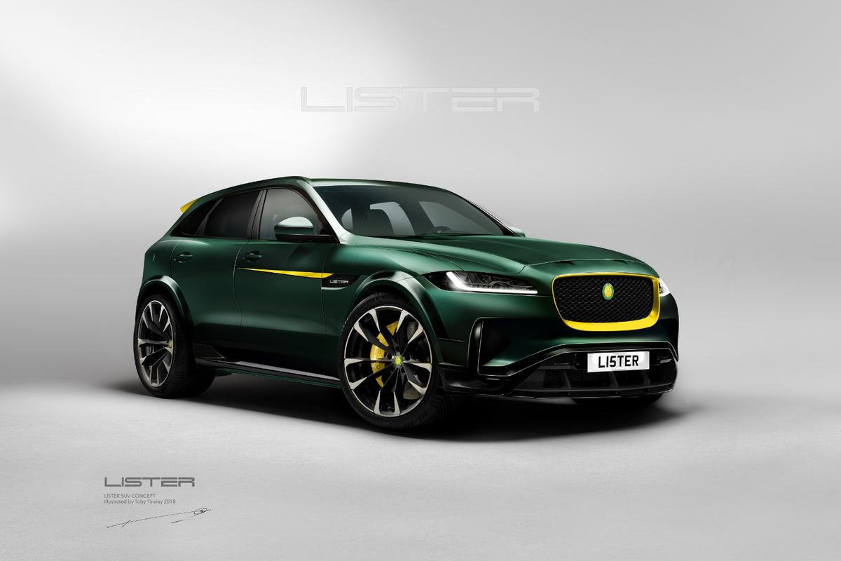 The Lister LFP isa 670-horsepower supercar for the flexibility-challenged