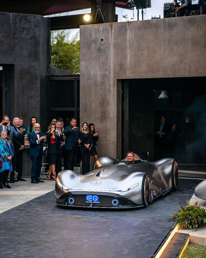 Mercedes showed off the Vision EQ Silver Arrow concept at Monterey Car Week
