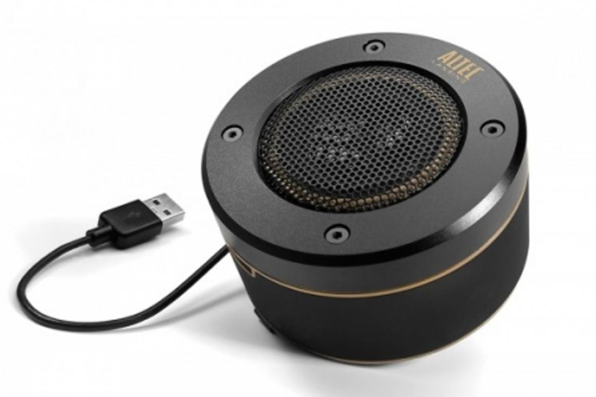Altec Lansing's Orbit USB 360° sound portable speaker packs