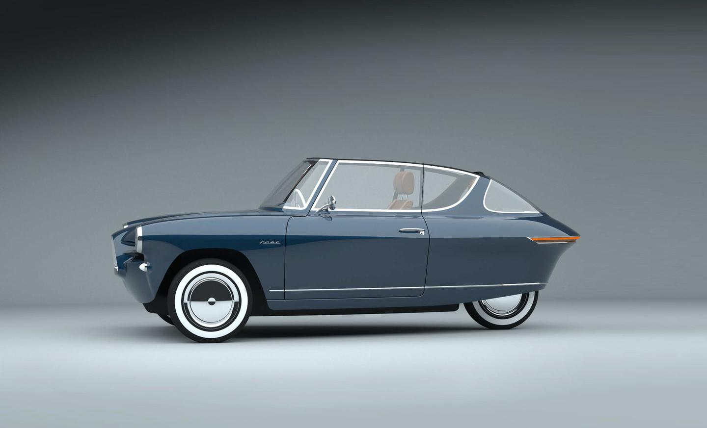 Prototype drawings like this one show both a cabriolet and a closed-top version of the Nobe