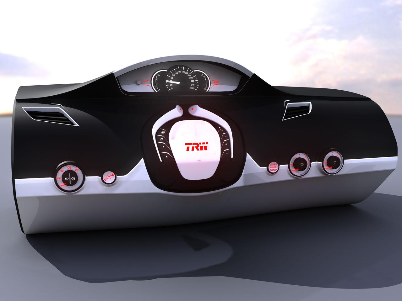 TRW Automotive is developing a folding, retractable steering wheel, that would make it easier to get in and out of small cars