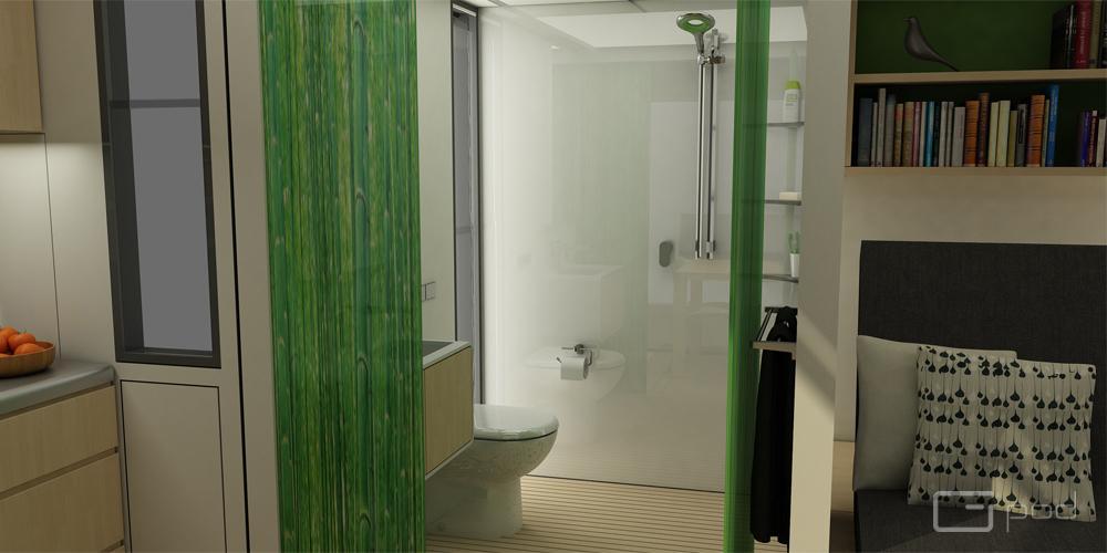 Bathroom area in the Dwell (Image: G-pod)