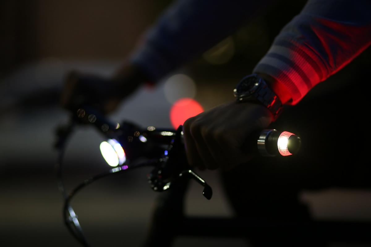 WingLights360 attach to either end of the handlebars