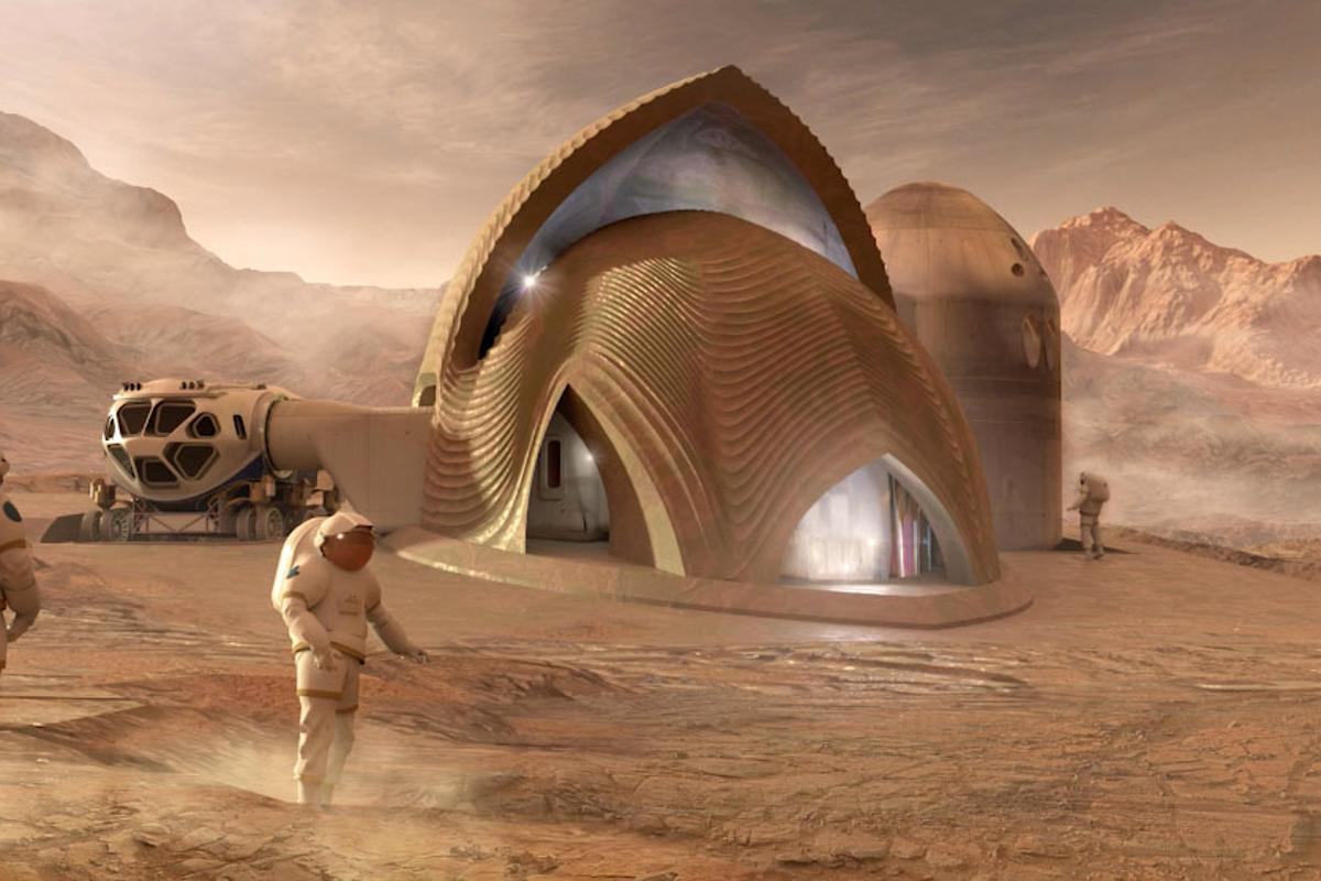 Team SEArch+/Apis Cor of New York is the fourth-place winner in NASA's 3D-Printed Habitat Challenge, Phase 3: Level 1 competition