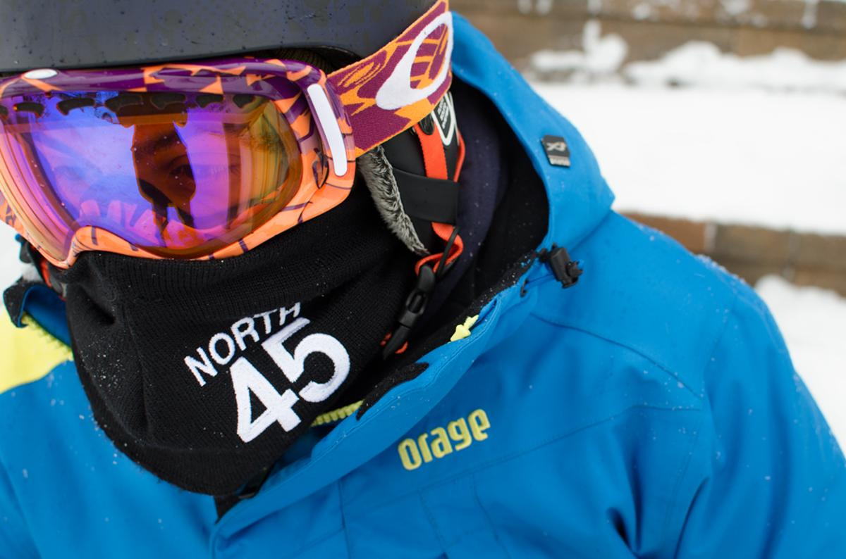 The North45 scarf has an escape route for your breath and is designed to prevent your goggles from fogging up
