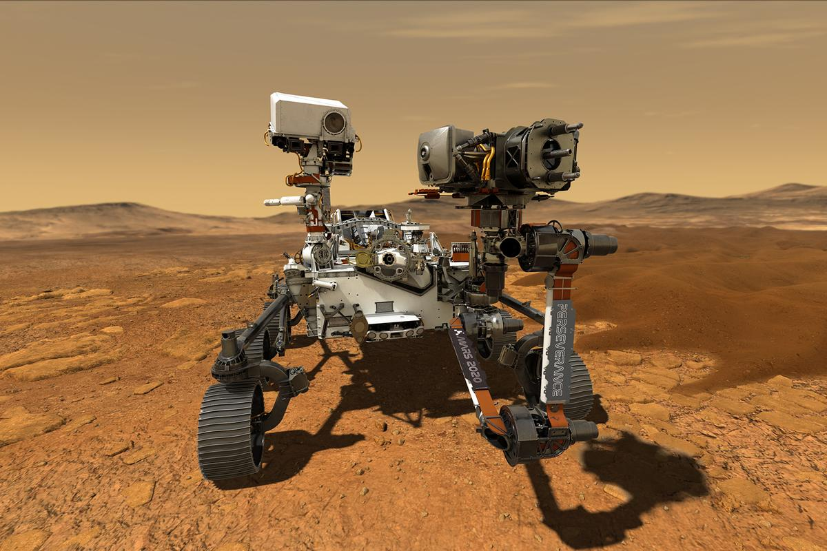 Artist's concept of the newly named Perseverance rover – we're just thankful it's not called Rovey McRoverface