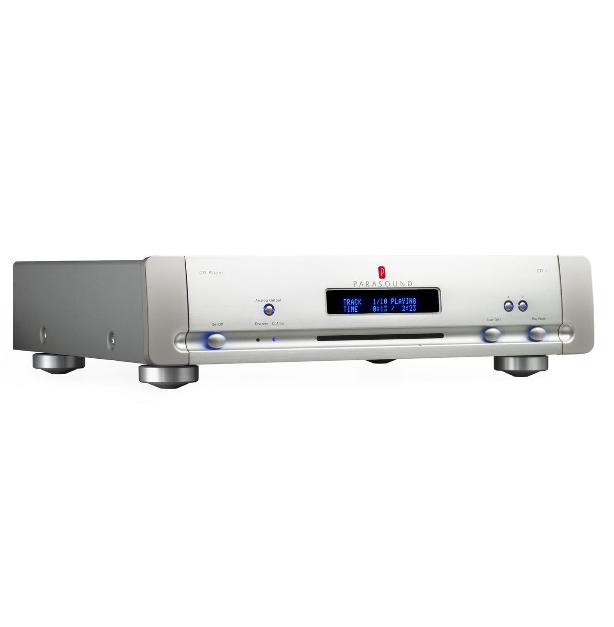 The Parasound CD1 spins CDs four times faster than normal to eliminate errors