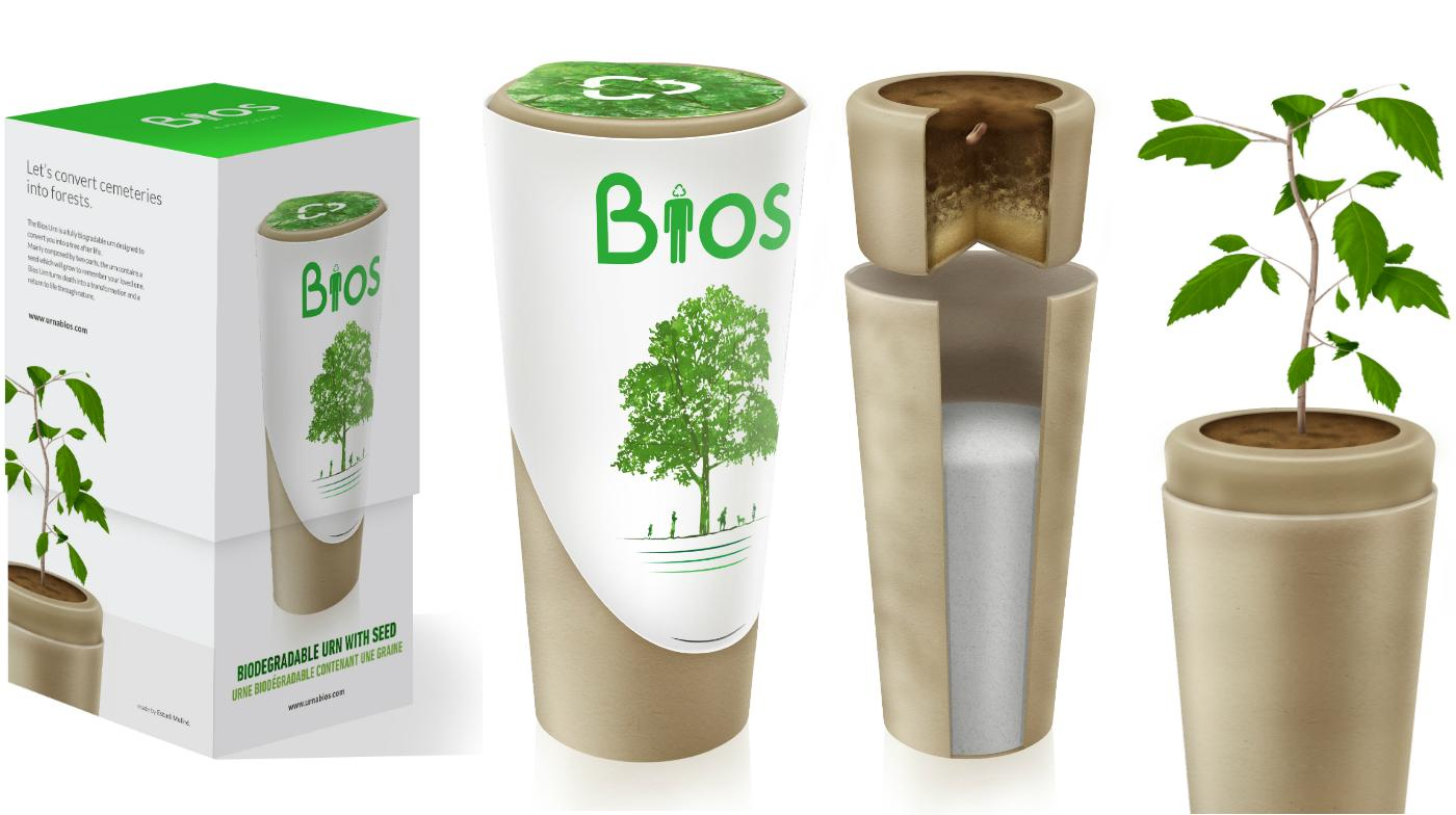 The Bios Urn for Pets is aimed at providing a living memorial of a lost family pet