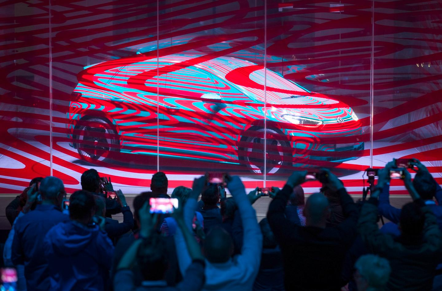 Volkswagen held a press conference on Wednesday to announce the ID.3 name and preordering