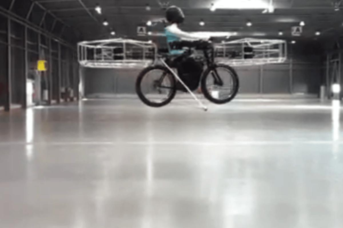 The F-Bike takes flight in Prague