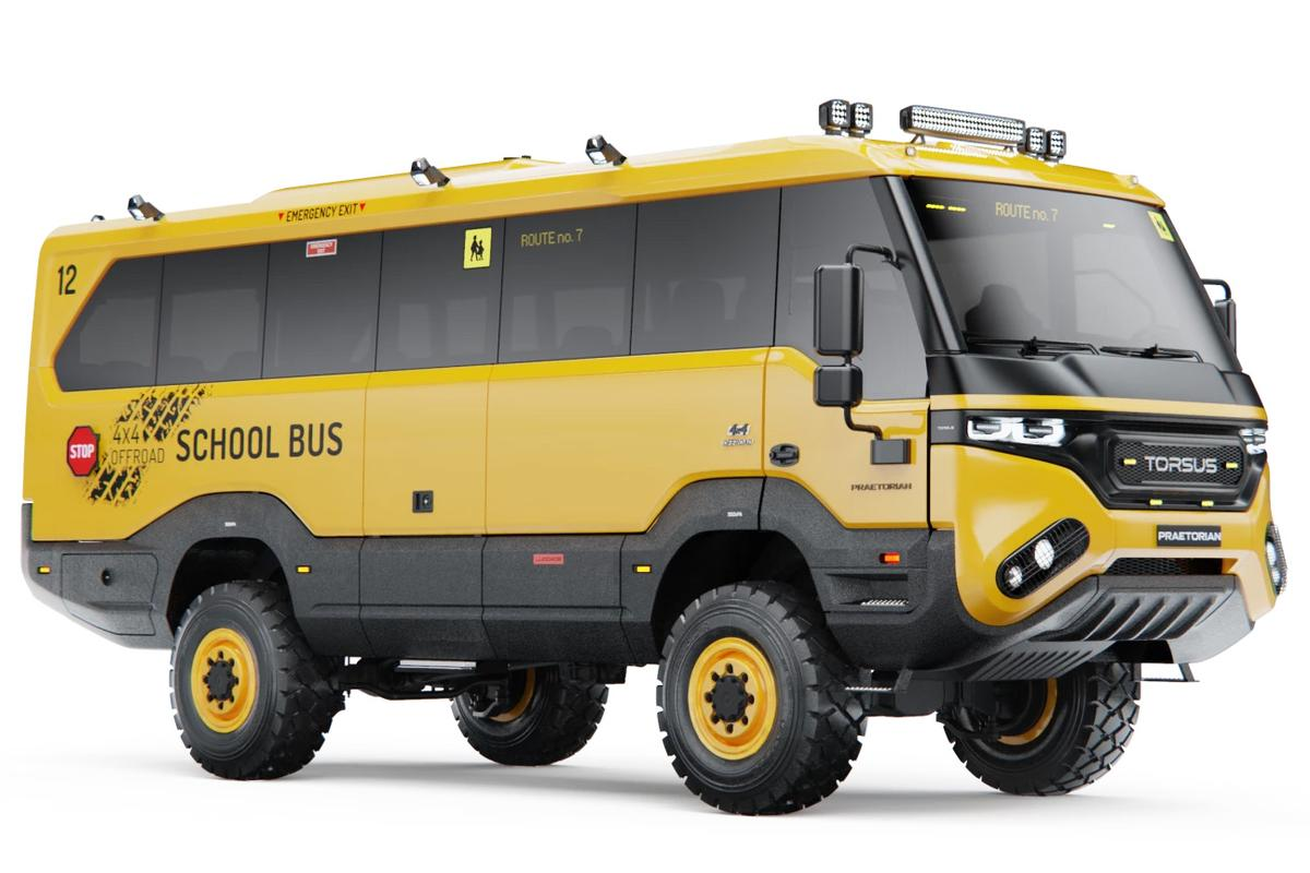 The classic yellow school bus gets remade for a rougher world