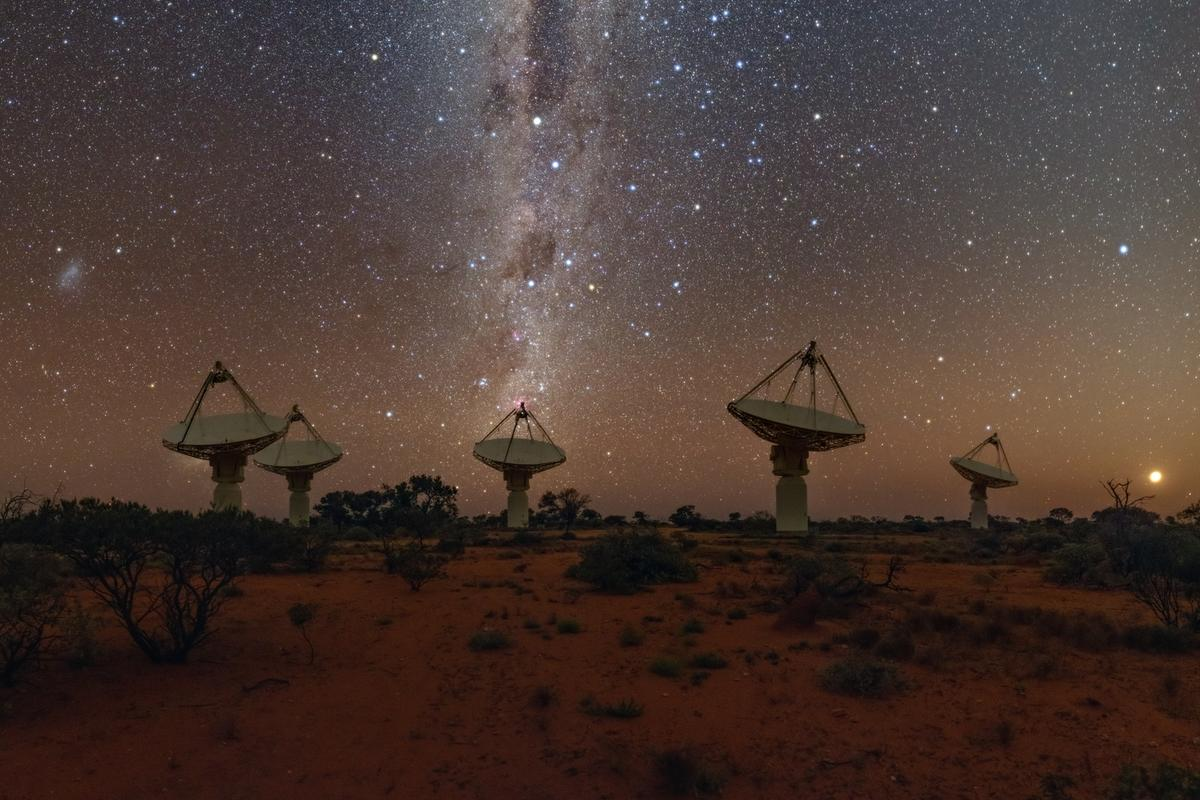 The ASKAP radio telescope in Western Australia pinpointed the location of a mysterious radio signal from space
