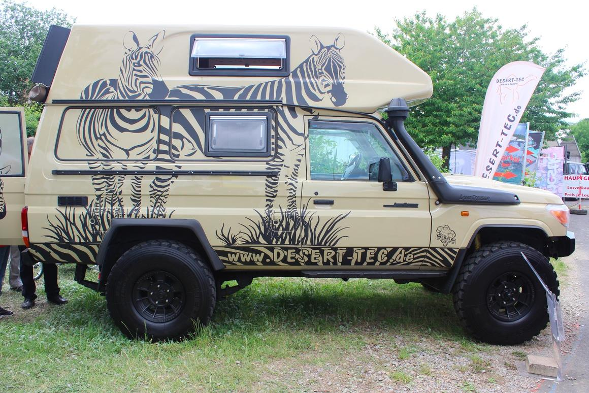 Another high-riding Toyota Land Cruiser camper courtesy of Desert-Tec