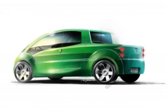 Artists rendering of the Air-Car pick-up versionImage: www.zeropollutionmotors.us