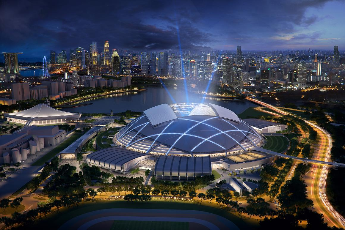 The National Sports Stadium will be the centerpiece of the Singapore Sports Hub (Image: © Singapore Sports Hub_Oaker)
