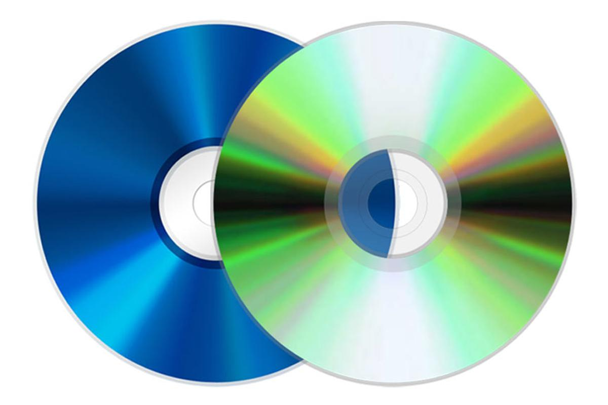 The new dual format 'flipper' discs feature standard DVD format on one side, and Blu-ray on the other
