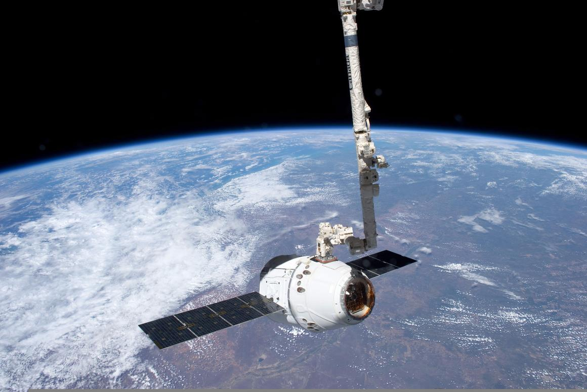 The Dragon spacecraft spent a month berthed with the ISS