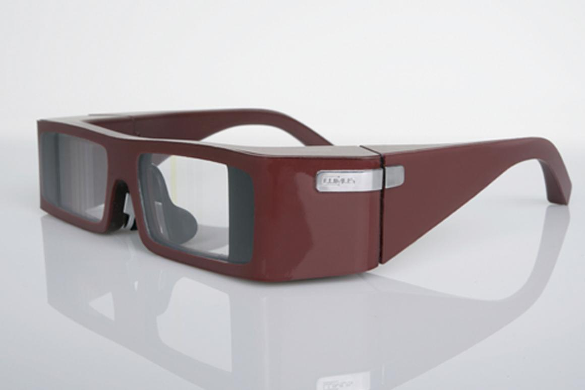 Lumus transparent lenses display a virtual 87-inch screen, while allowing you to see what's going on in front of you