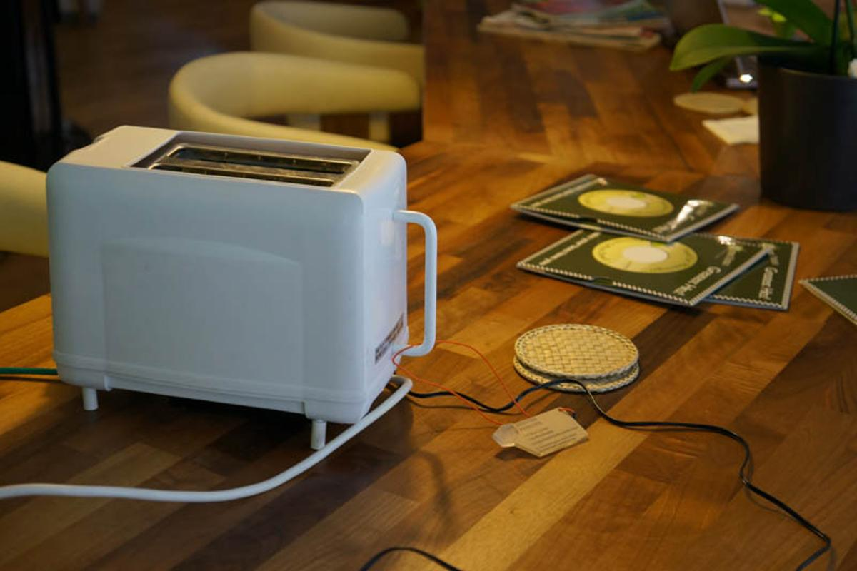 The Addicted Toaster is designed to bring attention to areas where e-waste can be reduced