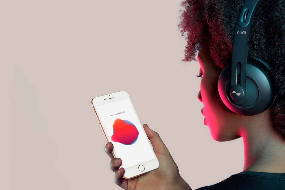 The nuraphones make use of self-learning software that tests for otoacoustic emissions via an iOS/Android mobile app